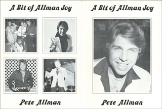 PETE ALLMAN - PRESS KIT SIGNED