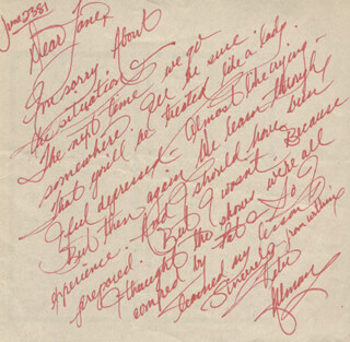 Autographs: PETE ALLMAN - AUTOGRAPH NOTE SIGNED 06/23/1981