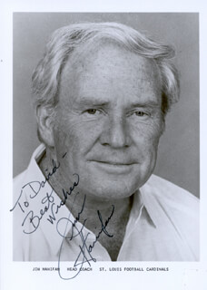 JIM HANIFAN - AUTOGRAPHED INSCRIBED PHOTOGRAPH