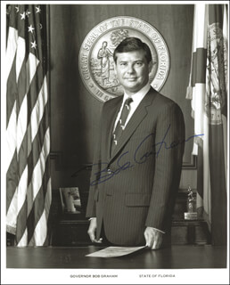 GOVERNOR BOB GRAHAM - AUTOGRAPHED SIGNED PHOTOGRAPH