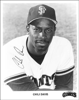 CHILI DAVIS - PRINTED PHOTOGRAPH SIGNED IN INK