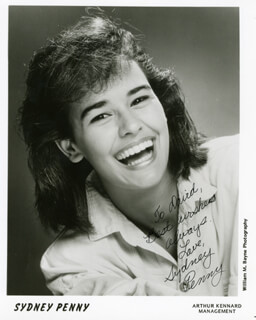 SYDNEY PENNY - AUTOGRAPHED INSCRIBED PHOTOGRAPH