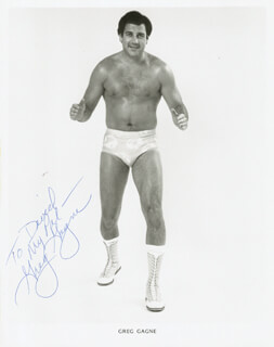 GREG GAGNE - AUTOGRAPHED INSCRIBED PHOTOGRAPH