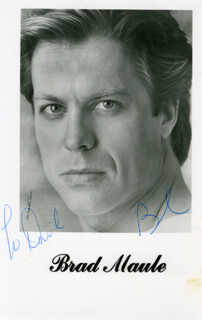 BRAD MAULE - INSCRIBED PRINTED PHOTOGRAPH SIGNED IN INK