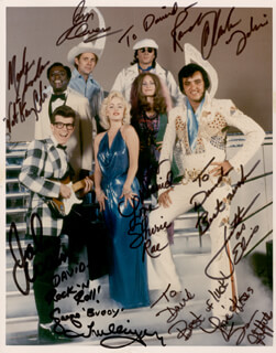 LEGENDS IN CONCERT SHOW CAST - AUTOGRAPHED INSCRIBED PHOTOGRAPH CO-SIGNED BY: SHERIE RAE PARKER, GEORGE TRULLINGER, JOHN WAIN, RANDY CLARK, JIM OWEN, SUSAN GRIFFITHS