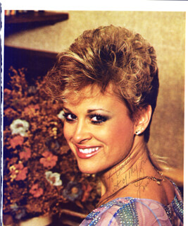LORRIE MORGAN - INSCRIBED MAGAZINE PHOTO SIGNED CO-SIGNED BY: JIMMY C. NEWMAN