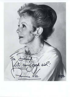 ANNA LEE - AUTOGRAPHED INSCRIBED PHOTOGRAPH 1984