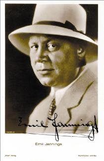 EMIL JANNINGS - PICTURE POST CARD SIGNED