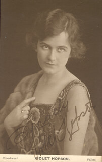 VIOLET HOPSON - PRINTED PHOTOGRAPH SIGNED IN INK