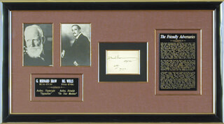 Autographs: GEORGE BERNARD SHAW - SIGNATURE(S) 01/20/1936 CO-SIGNED BY: H. G. WELLS