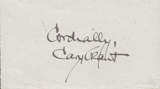 CARY GRANT - AUTOGRAPH SENTIMENT SIGNED