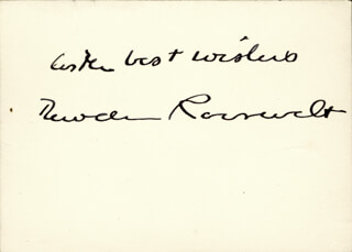 BRIGADIER GENERAL THEODORE ROOSEVELT JR. - AUTOGRAPH SENTIMENT SIGNED