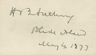 Autographs: HENRY B. ANTHONY - SIGNATURE(S) 05/04/1877