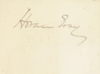 ASSOCIATE JUSTICE HORACE GRAY - AUTOGRAPH