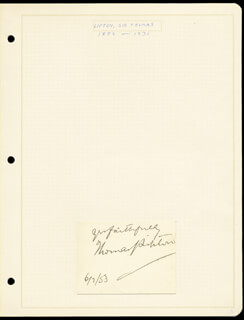 Autographs: THOMAS J. LIPTON - AUTOGRAPH SENTIMENT SIGNED 06/07/1903