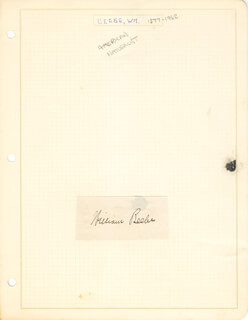 Autographs: WILLIAM (CHARLES WILLIAM) BEEBE - SIGNATURE(S)