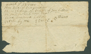 BENJAMIN HOLTON - AUTOGRAPH LETTER SIGNED CIRCA 03/1745