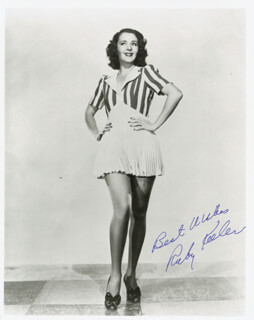 RUBY KEELER - AUTOGRAPHED SIGNED PHOTOGRAPH