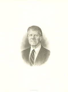 PRESIDENT JAMES E. JIMMY CARTER - ENGRAVING UNSIGNED