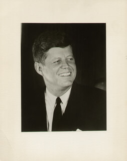PRESIDENT JOHN F. KENNEDY - PHOTOGRAPH UNSIGNED CIRCA 1963