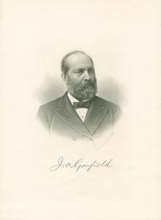 PRESIDENT JAMES A. GARFIELD - PHOTOGRAPH UNSIGNED