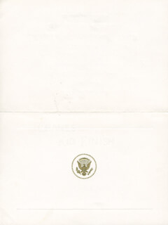 PRESIDENT LYNDON B. JOHNSON - INVITATION UNSIGNED CIRCA 1965
