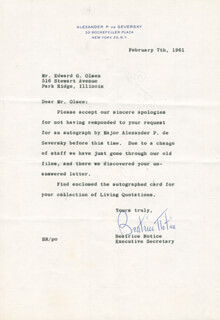 BEATRICE NOTICE - TYPED LETTER SIGNED 02/07/1961