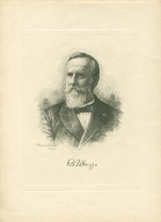 PRESIDENT RUTHERFORD B. HAYES - ENGRAVING UNSIGNED