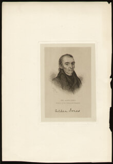 GENERAL ALLEN JONES - ENGRAVING UNSIGNED
