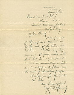 Autographs: MAJOR GENERAL WINFIELD SCOTT HANCOCK - PRINTED DOCUMENT UNSIGNED 08/20/1880
