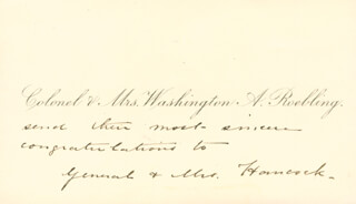 WASHINGTON A. ROEBLING - CALLING CARD UNSIGNED