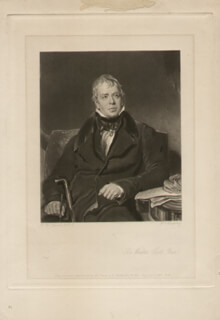 SIR WALTER SCOTT - ENGRAVING UNSIGNED