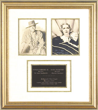 MARY PICKFORD - COLLECTION WITH DOUGLAS FAIRBANKS SR.