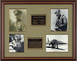 Autographs: MAJOR GENERAL WILLIAM BILLY MITCHELL - COLLECTION WITH COLONEL GREG PAPPY BOYINGTON, BRIGADIER GENERAL JAMES H. JIMMY DOOLITTLE, BRIGADIER GENERAL CHUCK YEAGER