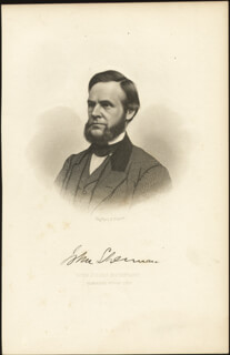 JOHN SHERMAN - ENGRAVING UNSIGNED