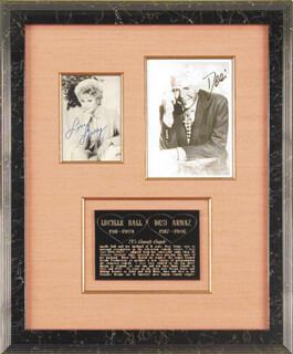Autographs: LUCILLE LUCY BALL - COLLECTION WITH DESI ARNAZ SR.