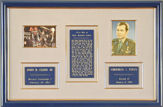 Autographs: JOHN GLENN - COLLECTION WITH GENERAL GHERMAN TITOV