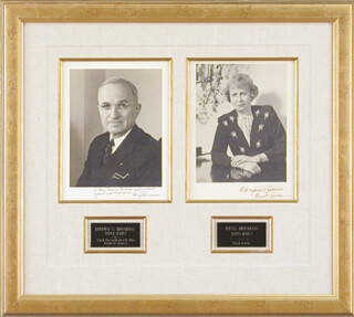 PRESIDENT HARRY S TRUMAN - COLLECTION WITH FIRST LADY BESS W. TRUMAN