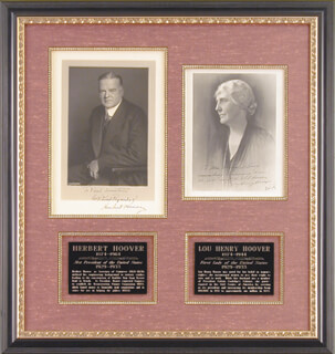 Autographs: PRESIDENT HERBERT HOOVER - COLLECTION WITH FIRST LADY LOU HENRY HOOVER