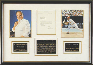 PETE ROSE - COLLECTION WITH A. B. BART GIAMATTI