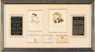 Autographs: C. C. (CHARLES) BECK - COLLECTION WITH JACK KIRBY, EVERETT RAYMOND KINSTLER, ALEX RAYMOND, FRED FREDERICKS