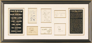 CHIC YOUNG - COLLECTION WITH JOHNNY HART, HANK KETCHAM, MORT WALKER, TOM HATTEN, WALTER LANTZ