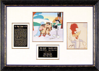 Autographs: MEL BLANC - COLLECTION WITH FRIZ FRELENG, WALTER LANTZ