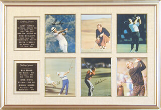 TOM WEISKOPF - COLLECTION WITH FUZZY ZOELLER, JOHNNY MILLER, HALE IRWIN, RAY FLOYD, GARY PLAYER