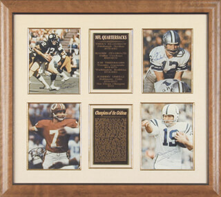 JOE THEISMANN - COLLECTION WITH TERRY BRADSHAW, JOHNNY UNITAS, ROGER STAUBACH