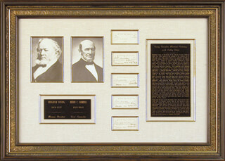 Autographs: BRIGHAM YOUNG - COLLECTION WITH THOMAS BULLOCK, HEBER C. KIMBALL, NEWELL K. WHITNEY