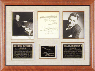 SIGMUND ROMBERG - COLLECTION WITH OSCAR HAMMERSTEIN II