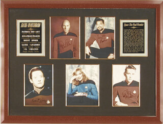 STAR TREK-NEXT GENERATION MOVIE CAST - COLLECTION WITH JONATHAN FRAKES, GATES McFADDEN, WIL WHEATON, BRENT SPINER, PATRICK STEWART