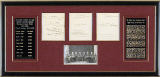 Autographs: CHIEF JUSTICE MORRISON R. WAITE - COLLECTION WITH NATHAN CLIFFORD, WILLIAM STRONG, SAMUEL F. MILLER, JOSEPH P. BRADLEY, DAVID D. DAVIS, STEPHEN J. FIELD, WARD HUNT,  NOAH H. SWAYNE