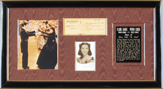 Autographs: GONE WITH THE WIND: SCARLETT AND RHETT